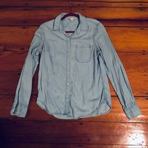Chambray tencel button down